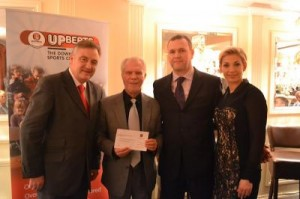 West Kent Freemasons representatives present a cheque for £5000 to David and Vanessa Gold